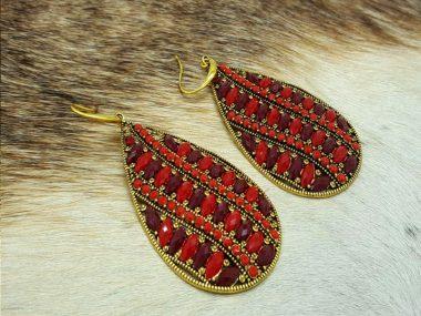 گوشواره رنگی سنتی وتایلندی