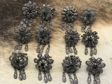 حلقه روسری اویزدارمشکی شیک